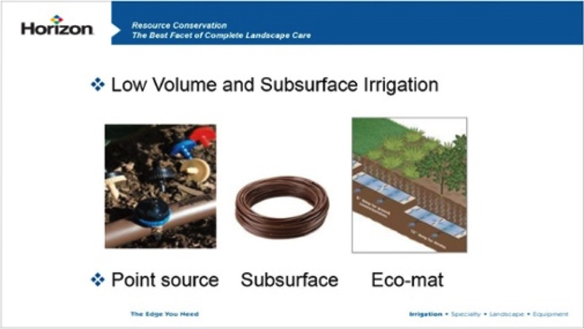 low volume and subsurface irrigation